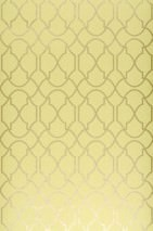 Wallpaper Telenzo Shimmering pattern Matt base surface Modern damask Yellow green Gold