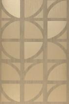 Papel pintado Salima Mate Elementos gráficos Beige Gris beige Oro brillante