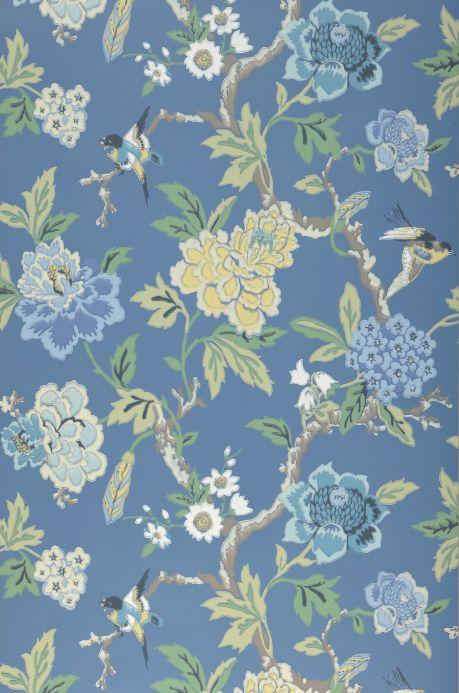 Archiv Papel pintado Sloana azul luminoso Ancho rollo