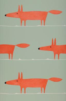 Papel de parede What does the Fox say vermelho Bahnbreite