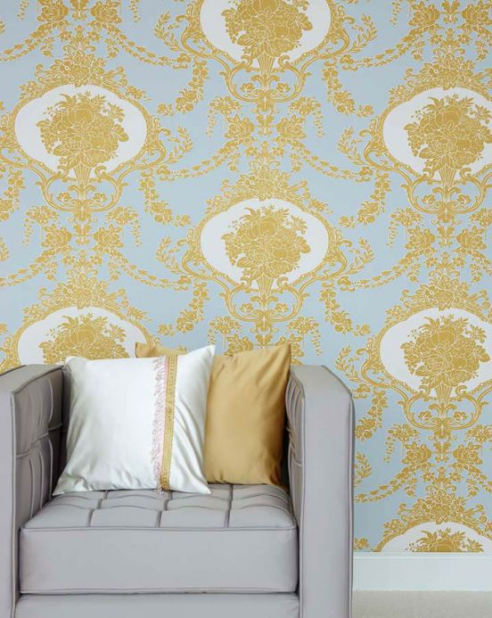 Archiv Wallpaper Karima gold Room View