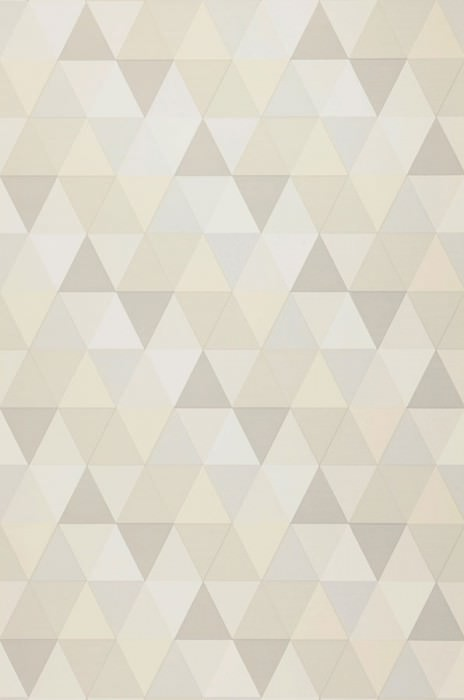 Wallpaper Tamesis Matt Triangles Cream Grey white Light grey