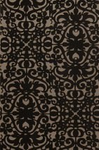 Wallpaper Juventas Matt Modern elements Light grey brown Dark brown White gold