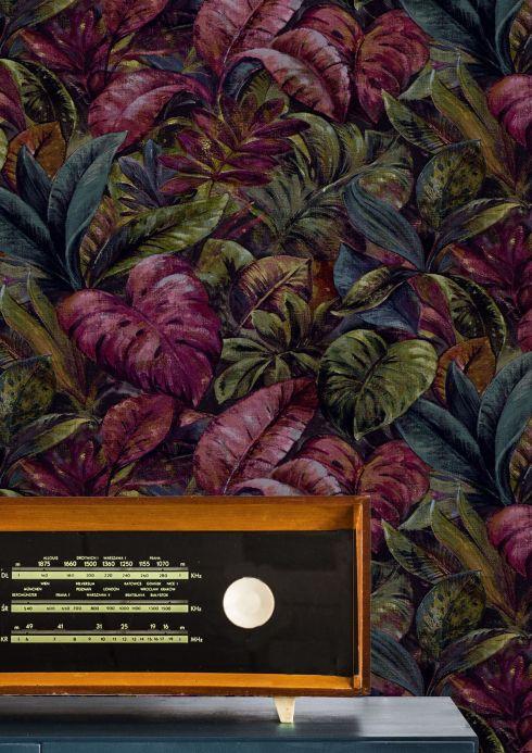 Purple Wallpaper Wallpaper Hirondelle violet Room View