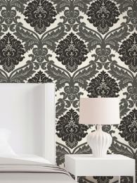Papel de parede Samanta cinza escuro