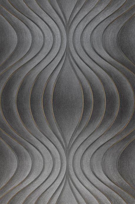 Papel pintado de diseño Papel pintado Tirion gris oscuro Ancho rollo