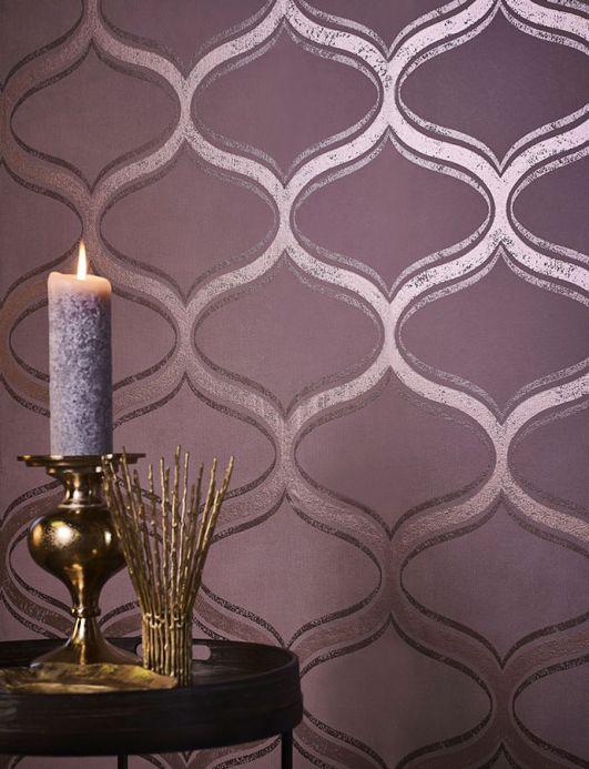 Design Wallpaper Wallpaper Hulda rosewood Room View