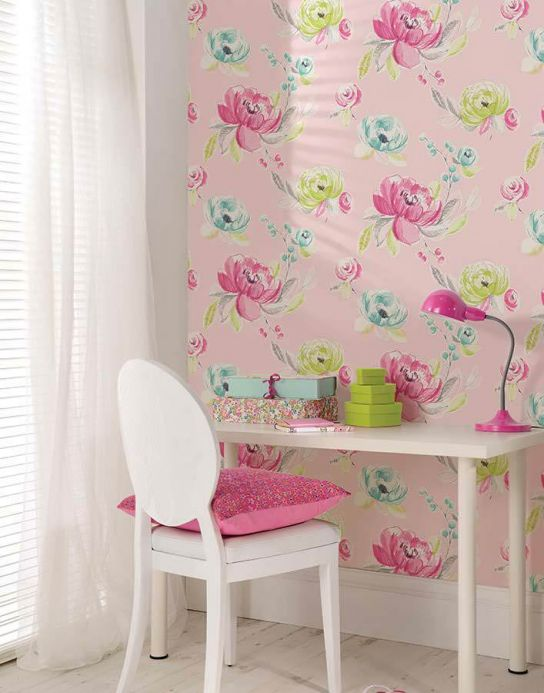 Archiv Wallpaper Seraphine heather violet Room View