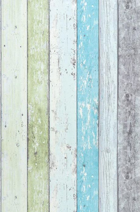 Striped Wallpaper Wallpaper Old Planks pastel turquoise Roll Width