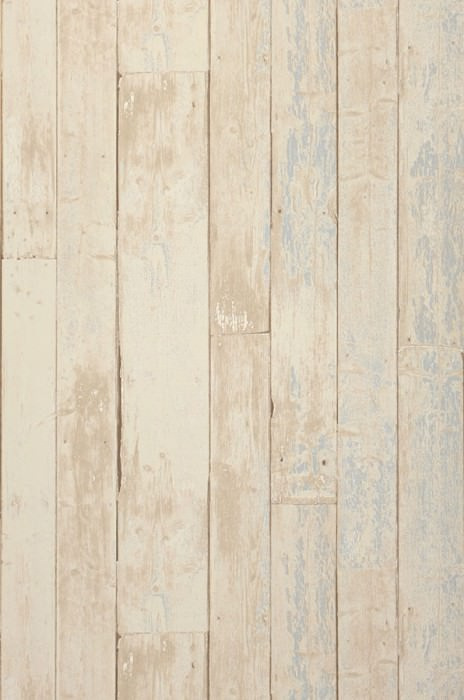 Wallpaper Country Wood Matt Old wooden boards Pale blue Cream Grey beige Sepia brown