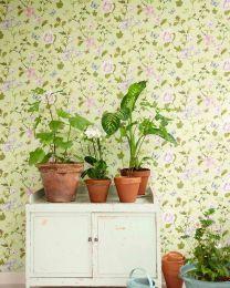 Papel de parede Laura verde