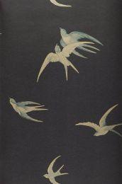 Papier peint Izanami gris noir