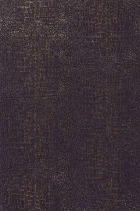 Papier peint imitation cuir Papier peint Alligator brun noir Largeur de lé