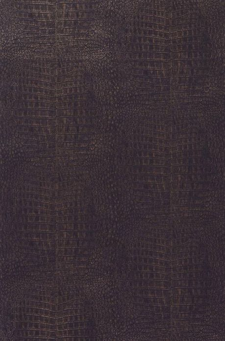 Faux Leather Wallpaper Wallpaper Alligator black brown Roll Width