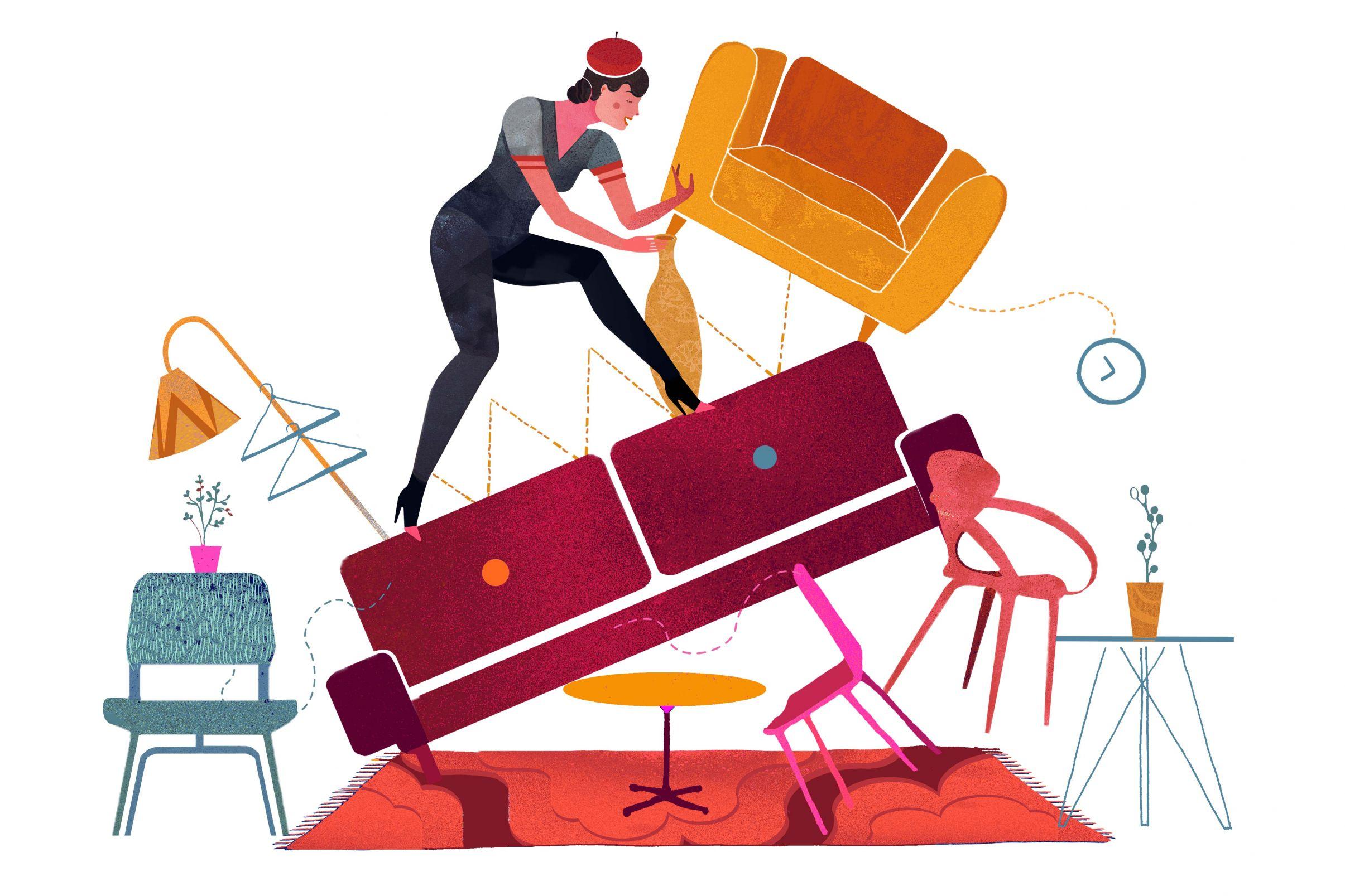 Tapeziervorbereitung Möbel ausräumen