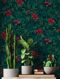 Papel de parede Tara verde negrusco