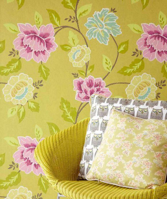 Archiv Papel pintado Forseti turquesa pastel Ver habitación