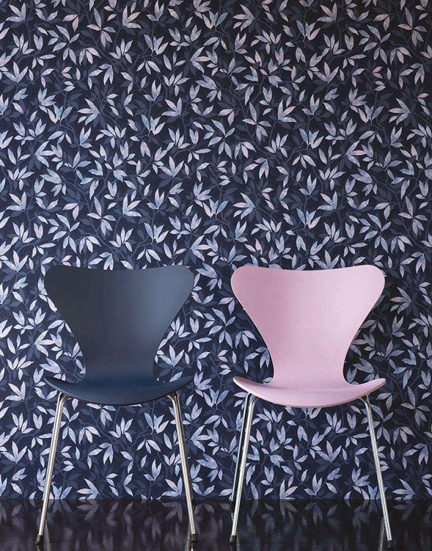Wallpaper Dagista Grey Blue Pale Blue Pigeon Blue Pale Pink