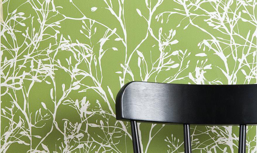 tapete wohnzimmer grün:Patterned Greens