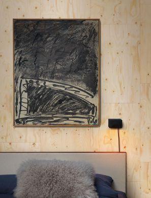 Papier peint Plywood crème Vue pièce