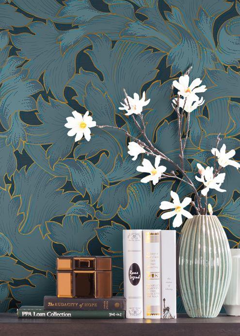Papel de parede Papel de parede Epinal cinza azulado Ver ambiente