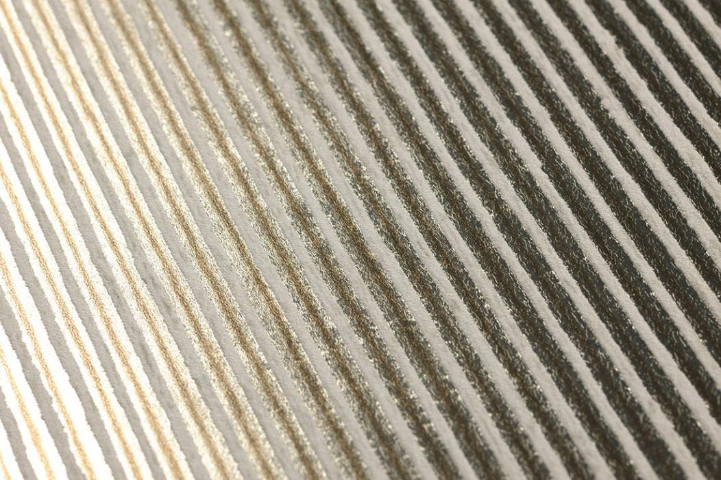 Wallpaper Isidor Matt pattern Shimmering base surface Stripes Brown White gold Cream