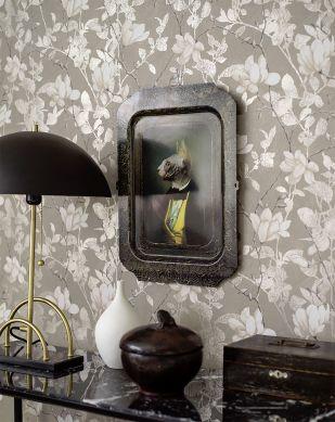 Papel pintado Clarence gris Ver habitación
