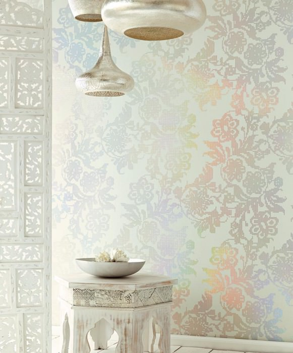 siduri grauweiss braunbeige florale tapeten tapetenmuster tapeten der 70er. Black Bedroom Furniture Sets. Home Design Ideas
