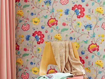 Wallpaper Belisama platinum grey