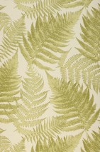 Wallpaper Franka Matt Fern leaves Light ivory Fern green