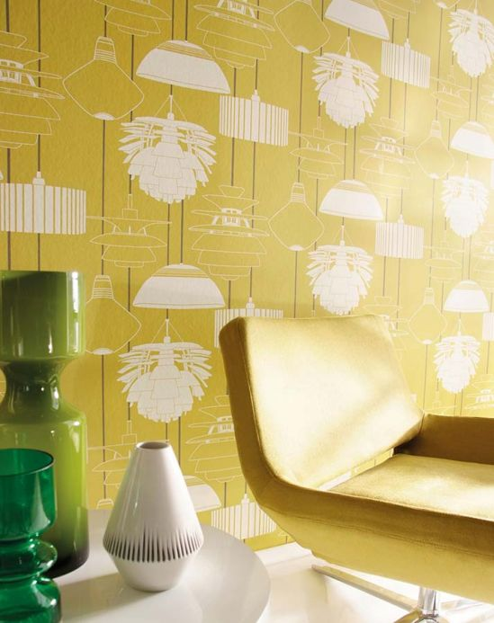 Archiv Wallpaper Sobek honey yellow Room View