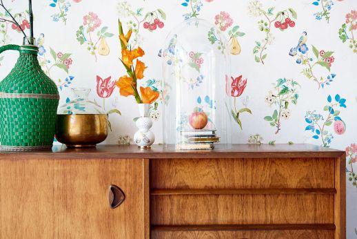 Papel de parede Mallorie branco Ver quarto