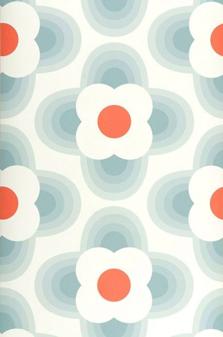 Wallpaper patterns Wallpaper Selene grey blue Roll Width