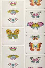 Papel de parede Farfalla verde amarelado