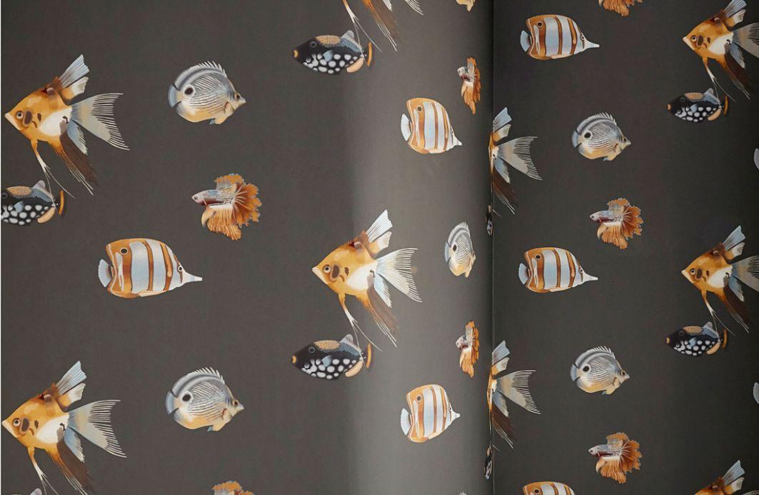 Animal Wallpaper Wallpaper Servatius dark grey Room View