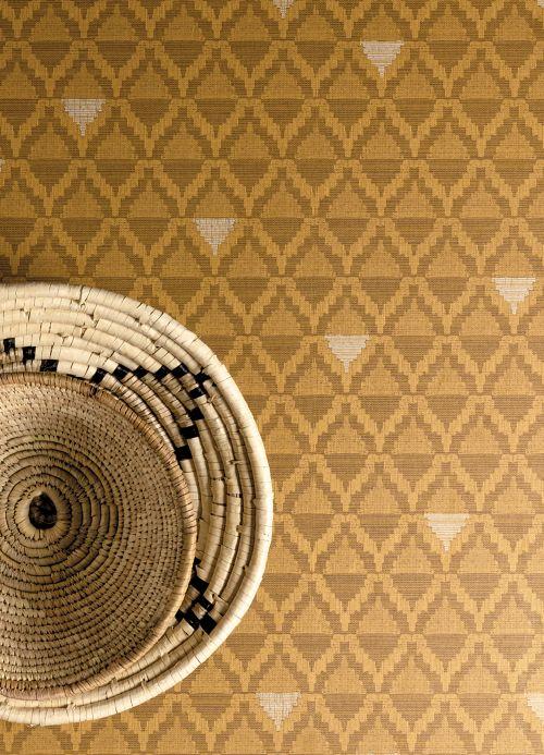 Modern Wallpaper Wallpaper Kurumba sand yellow Room View
