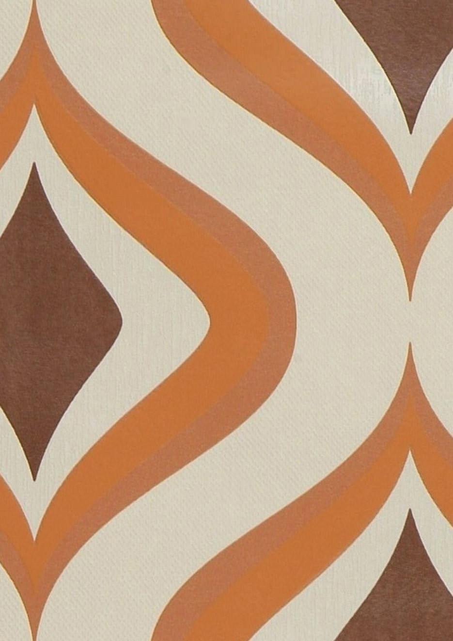 tapete triton hellelfenbein braun orange tapeten der. Black Bedroom Furniture Sets. Home Design Ideas