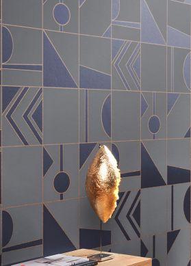 Papel de parede Otavio azul cobalto brilhante Ver quarto