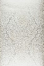 Wallpaper Perun Matt pattern Iridescent base surface Baroque damask Pearl beige Cream