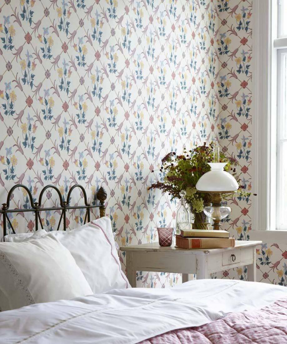 tapete enki cremeweiss dunkelgr n goldgelb. Black Bedroom Furniture Sets. Home Design Ideas
