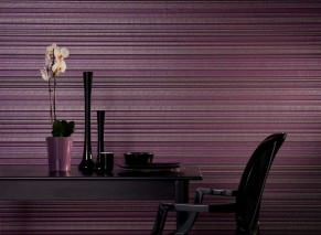 Wallpaper Merletto Shimmering pattern Matt base surface Stripes Crimson violet  Rose Silver Violet