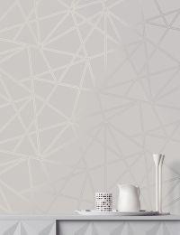 Papel de parede Habakuk branco acinzentado