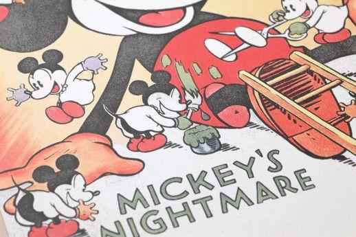 Papel de parede 1930s Mickey Mouse azul claro Ver detalhe