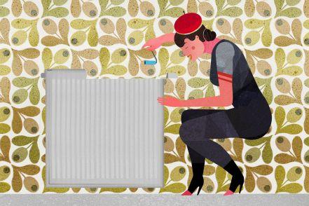 Como colocar papel de parede atrás de aquecedores