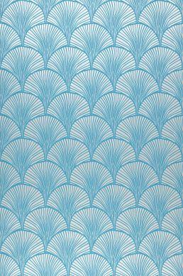 Papier peint Nippon turquoise Largeur de lé