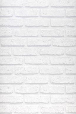 Carta da parati City Brick bianco grigiastro Larghezza rotolo