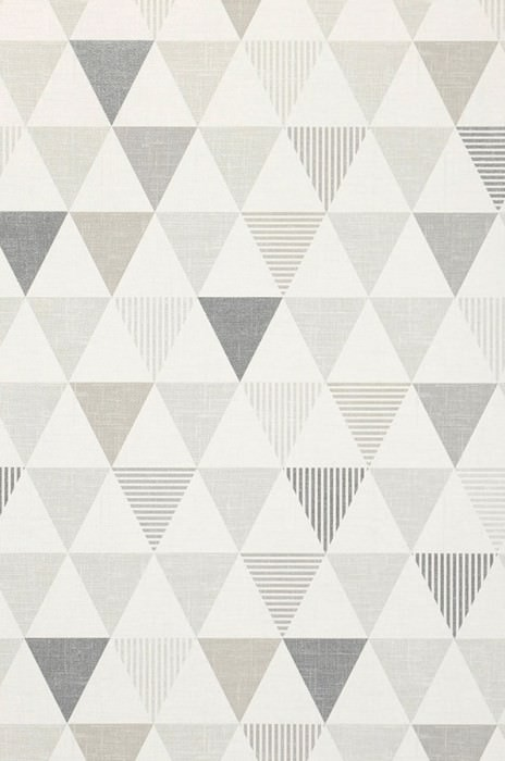 Wallpaper Zenem Matt Triangles Grey white Grey tones Silver grey shimmer