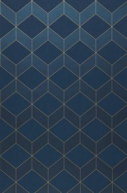 Papier peint Barite bleu foncé brillant Bahnbreite