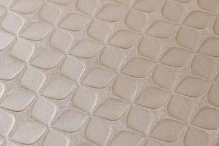 Wallpaper Korsal Shimmering Stylised blossoms Light brown beige