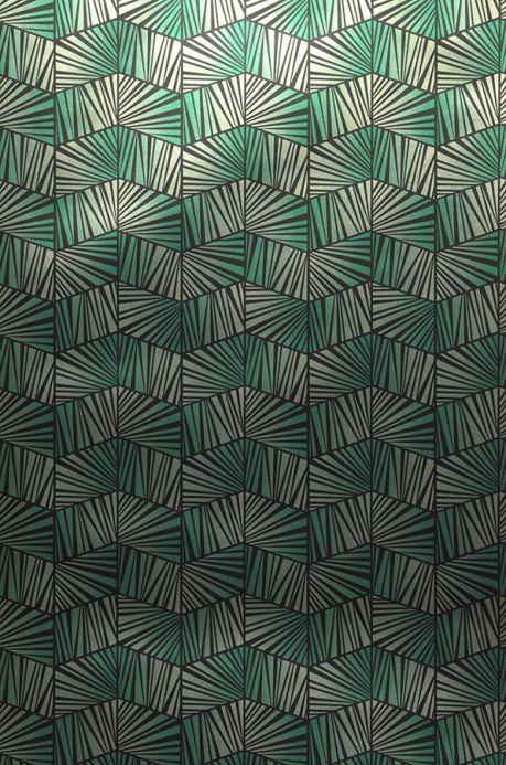 Archiv Papier peint Gimog vert émeraude lustre Largeur de lé